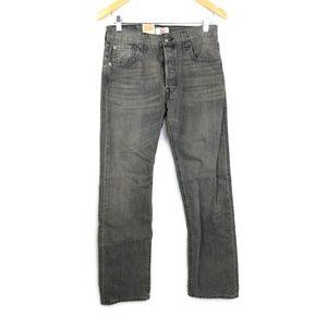 Levis 501 Jeans Mens 30 X 32 Button Fly Black